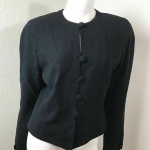 Christian Dior Black 6 Jacket Blazer Suit Separate